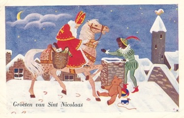 Sinterklaas & Zwarte Piet. (Courtesy of songbirdblog.com)