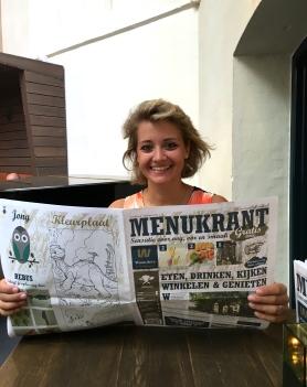 Newspaper Menu.