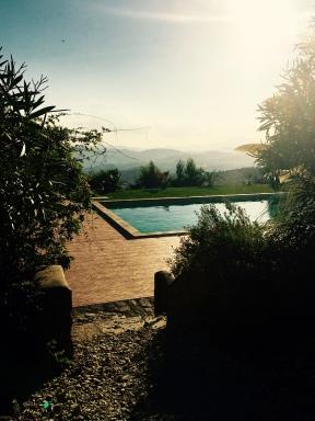 Hillside pool.